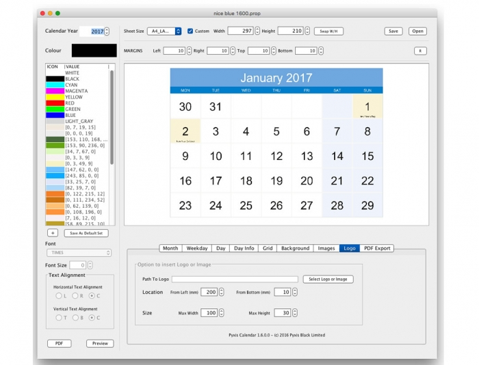 Pyxis Calendar - Mac Version