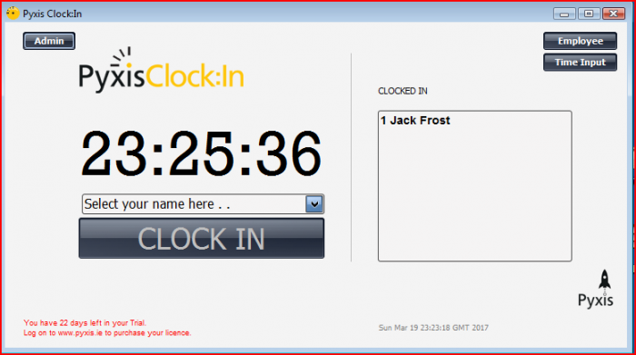 Pyxis Clock:In User Interface