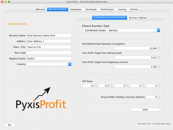 Pyxis Profit - Business Data