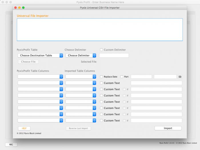 Pyxis Profit - Universal File Importer