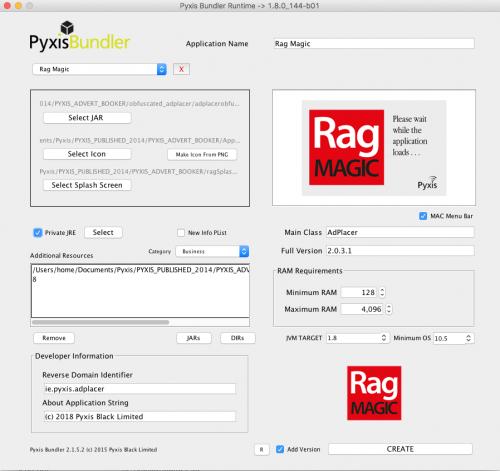 Pyxis Bundler Screen